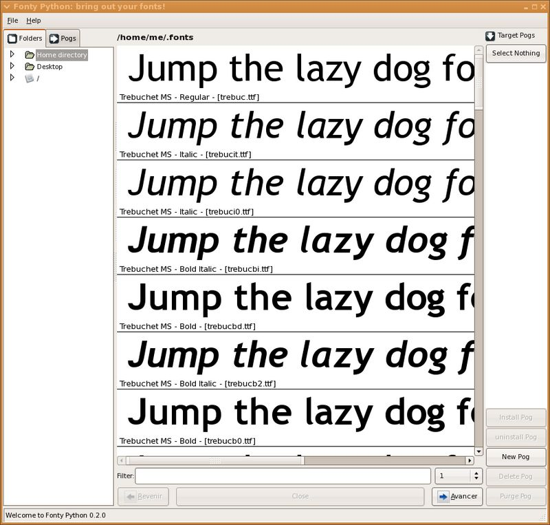HOWTO: Install fonts (TrueType / TTF)